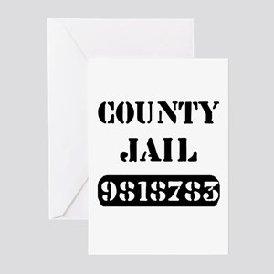 Inmate greeting cards cafepress jail inmate number 9818783 greeting cards package m4hsunfo