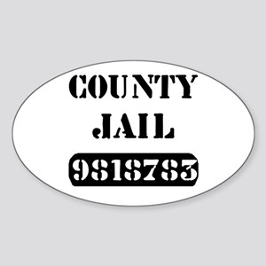 Jail Inmate Number 9818783 Oval Sticker