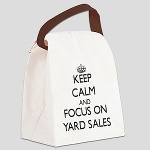 Keep Calm by focusing on Yard Sal Canvas Lunch Bag
