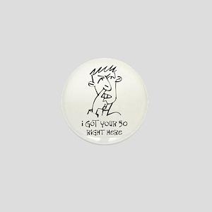 50th birthday nose picker Mini Button