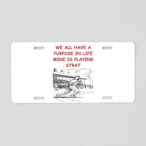 strat baseball Aluminum License Plate