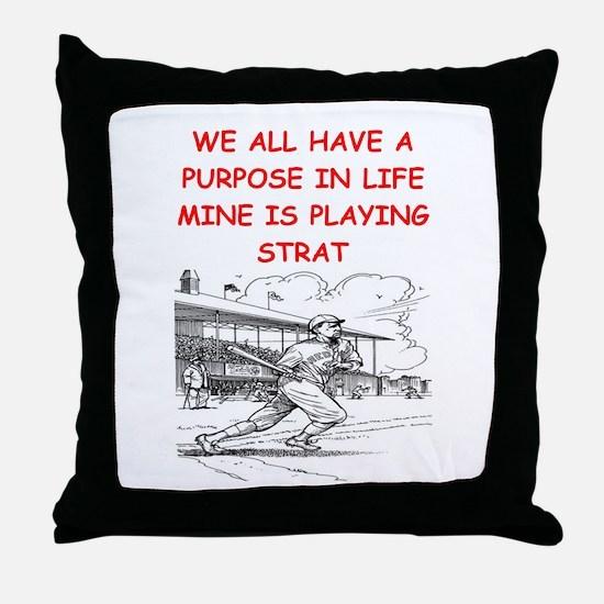 strat baseball Throw Pillow