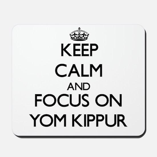 Keep Calm by focusing on Yom Kippur Mousepad