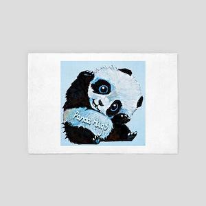 Panda Hugs 4' x 6' Rug
