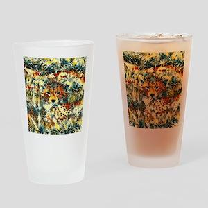 AnimalArt_Cheetah_20171001_by_JAMCo Drinking Glass