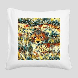 AnimalArt_Cheetah_20171001_by Square Canvas Pillow