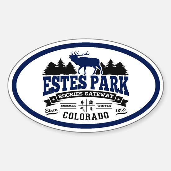 Estes Park Vintage Sticker (Oval)