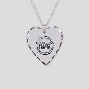 Forbidden Planet Addict Stamp Necklace Heart Charm