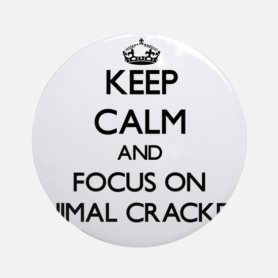 Keep Calm by focusing on Animal C Ornament (Round)
