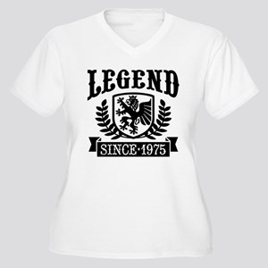 Legend Since 1975 Women's Plus Size V-Neck T-Shirt