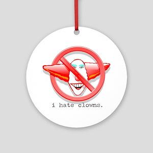 NCZ I Hate Clowns Ornament (Round)