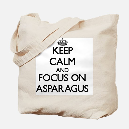 Keep Calm by focusing on Asparagus Tote Bag