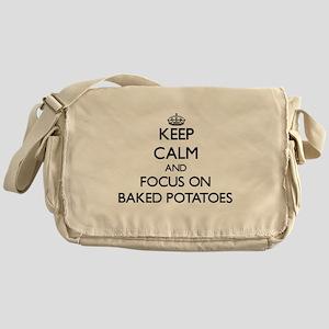 Keep Calm by focusing on Baked Potat Messenger Bag