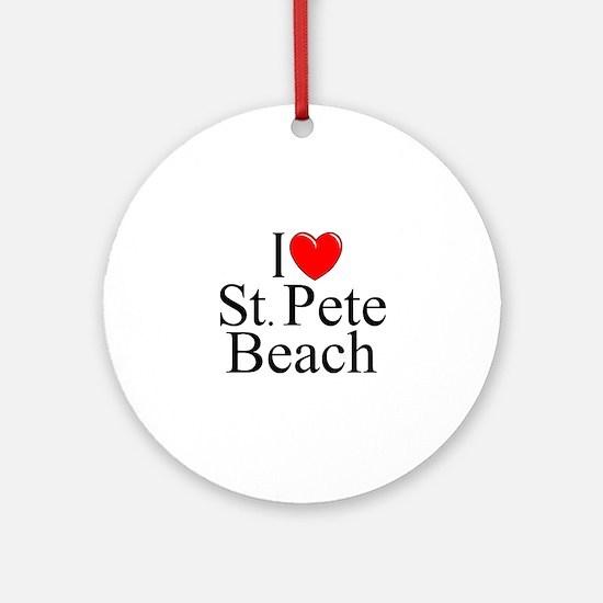 """I Love St. Pete Beach"" Ornament (Round)"