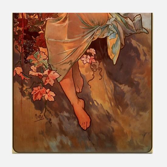 Alphonse Mucha 2 Tile Set - Autumn (Part 2of2)