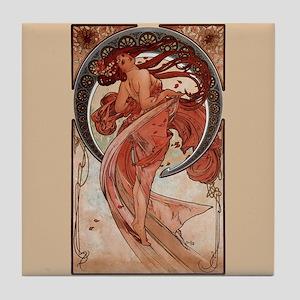Alphonse Mucha Art Tile Coaster - Dance