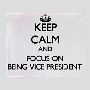 Keep Calm by focusing on Being Vice Throw Blanket