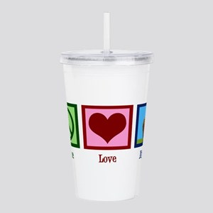 Peace Love Alpacas Acrylic Double-wall Tumbler