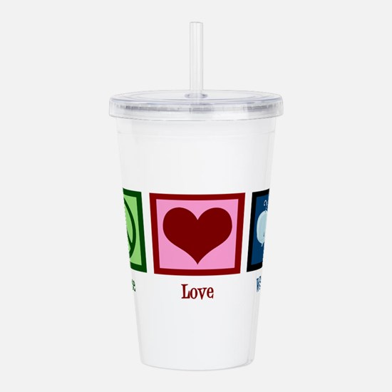 Peace Love Whales Acrylic Double-wall Tumbler
