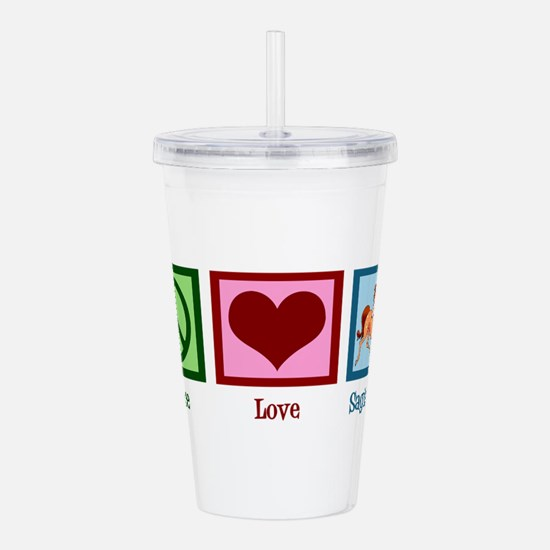 Peace Love Sagittarius Acrylic Double-wall Tumbler