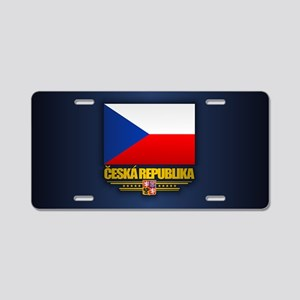 Czech Flag Aluminum License Plate