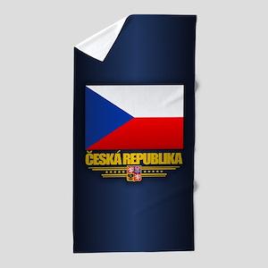 Czech Flag Beach Towel