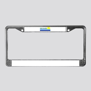 Red River License Plate Frame