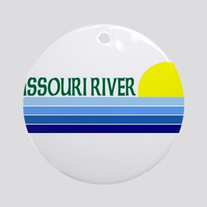 Missouri River Ornament (Round)