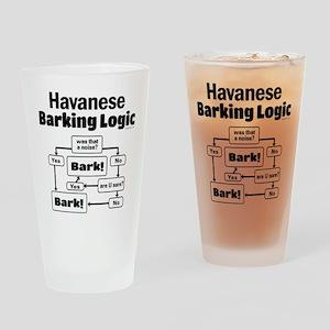 Havanese Logic Drinking Glass