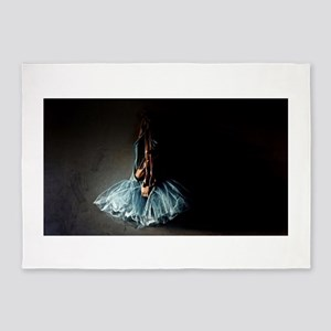 Dark Ballet Tutu Outfit with Worn P 5'x7'Area Rug
