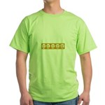 Skull on yellow background Green T-Shirt