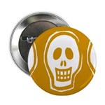 Skull on yellow background Button