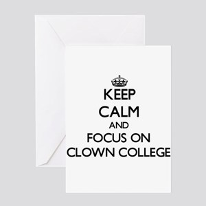 Keep Calm by focusing on Clown Coll Greeting Cards