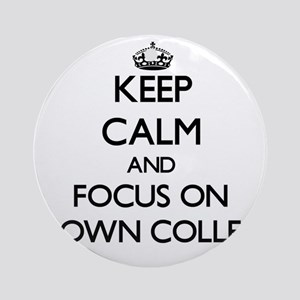 Keep Calm by focusing on Clown Co Ornament (Round)