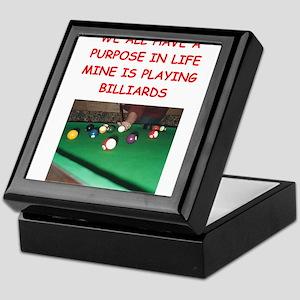 billiards Keepsake Box