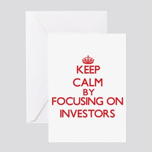 Keep Calm by focusing on Investors Greeting Cards