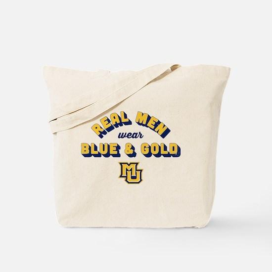 Marquette Golden Eagles Real Men Wear Blu Tote Bag