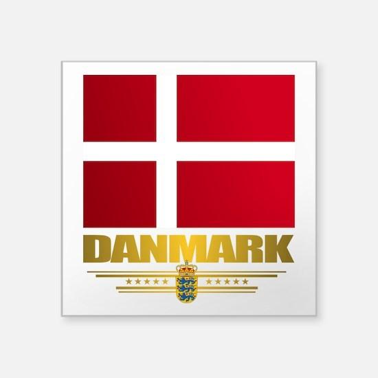 "Dannebrog Square Sticker 3"" x 3"""