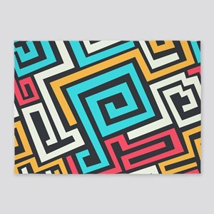 Colorful Abstract 5'x7'Area Rug