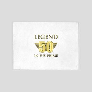 50th Birthday Legend 5'x7'Area Rug