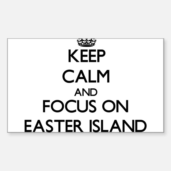 Keep Calm by focusing on Easter Island Decal