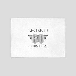 60th Birthday Legend 5'x7'Area Rug