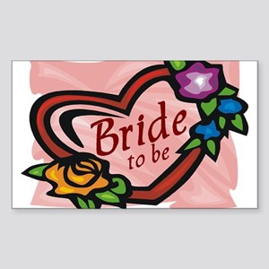 Bride To Be (heart) Rectangle Sticker