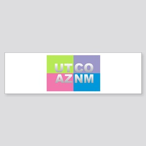 Four Corners USA Bumper Sticker