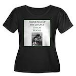 tennis Plus Size T-Shirt