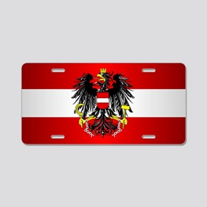 Austrian Flag Aluminum License Plate