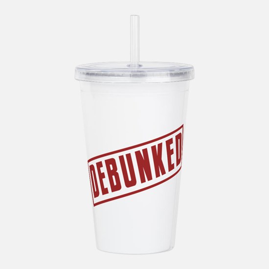Debunked Red Ink Stamp Acrylic Double-wall Tumbler