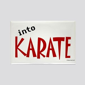 Into Karate Rectangle Magnet