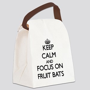 Keep Calm by focusing on Fruit Ba Canvas Lunch Bag