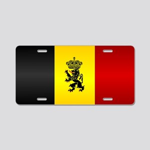 Belgian Flag Aluminum License Plate